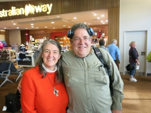 With Kerry at the airport